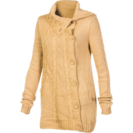 After a day of nonstop top-to-bottom runs, take a long, hot shower and put on the Oakley Women's Hut Sweater Coat. Its luxuriously soft yarn soothes your aching body as you relax by the fire and drink a hot toddy. - $88.00