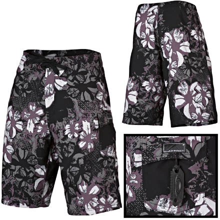Surf The sun is rising, the surf's going off. Who needs coffee when you have a reef break So pull on the Oakley Men's Iron Works Floral Board Short and bolt down to the beach. If you live in Kansas and the nearest ocean is thousands of miles away... well... improvise. Whatever, these boardies have a few pockets for your small stuff and feature quick-drying material to keep you comfortable. - $34.96