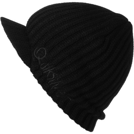 Surf The Quiksilver Treaty Visor Beanie isn't going to make a good parachute, and it probably won't tell very good stories on long drives. But it will keep your head warm in the winter. - $22.00