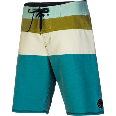 Surf Dane Reynolds' signature Quiksilver Cypher No Frills Board Short features Quik's highest-end four-way stretch material and a modern 20-inch inseam that sits just above your knee. - $62.55