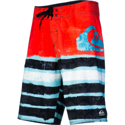 Surf The Kelly Slater signature Quiksilver Cypher Roam Board Shorts come with recycled polyester fabric, a water-repellent finish, and four-way stretch. They do not, however, come with 11 world surfing titles. - $52.00