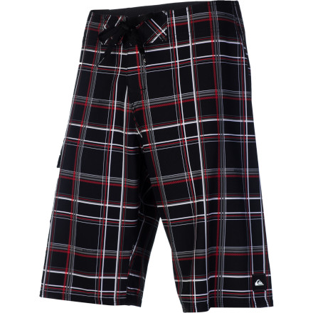 "Surf Quiksilver really should have named the Paid In Full Board Short the ""Plaid In Full"" instead. Think about it. - $39.60"