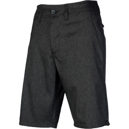 Surf The Quiksilver Full On Solid 4 Short offers a fresh casual take on stuffy suiting style. Slightly stretchy fabric gives you enough room to move, while the tailored fit and 22-inch inseam deliver a modern look without venturing into short-shorts territory. - $46.80