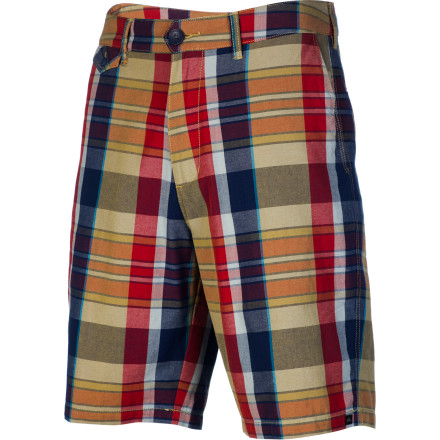 Surf The Quiksilver Nectar Short features a modern tailored fit and dope yarn-dyed plaid patterns in colors that scream spring. - $32.18