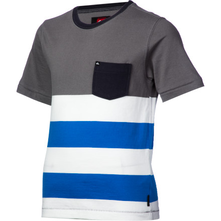 Surf Quiksilver Hoops T-Shirt - Short-Sleeve - Little Boys' - $18.20