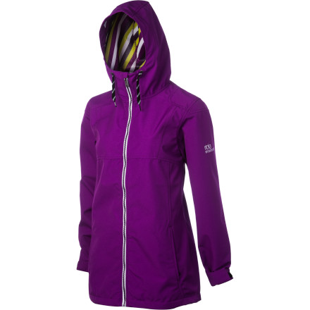 Snowboard The Ride Women's Bryant Jacket provides maximum coverage for sun-shiny spring riding. The classic long fit gives the Bryant a look that won't go out of style and adds a little length for a bit more coverage than Ride's regular classic fit. 3000mm waterproofing won't stand up to a blizzard, but it's plenty of waterproofing for having a seat in the snow or riding wet chairlifts, and cool features like a fixed powder skirt and wrist gaiters are tough to find in a lightweight spring jacket. - $90.96