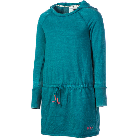 Surf On chilly winter days, have your gal pair the Roxy Girls' Frost Bite Dress with a pair of knit leggings, warm-up socks, and mid-high boots. This comfortable dress is ready for school or outings with the fam. - $38.00