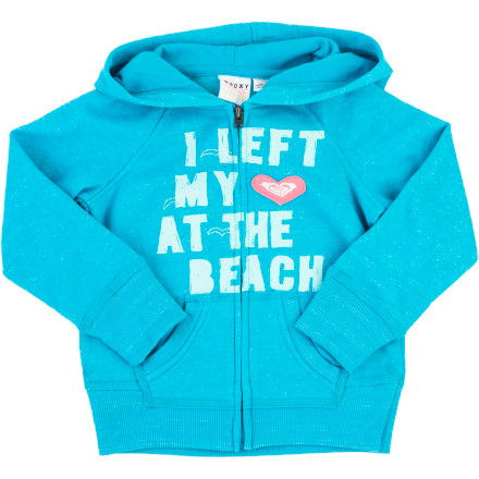 Surf Roxy Peace Out Full-Zip Hoodie - Toddler Girls' - $31.60