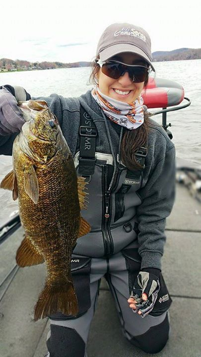 Kate dattilo has been putting in time with the smallmouth for Kates fish camp