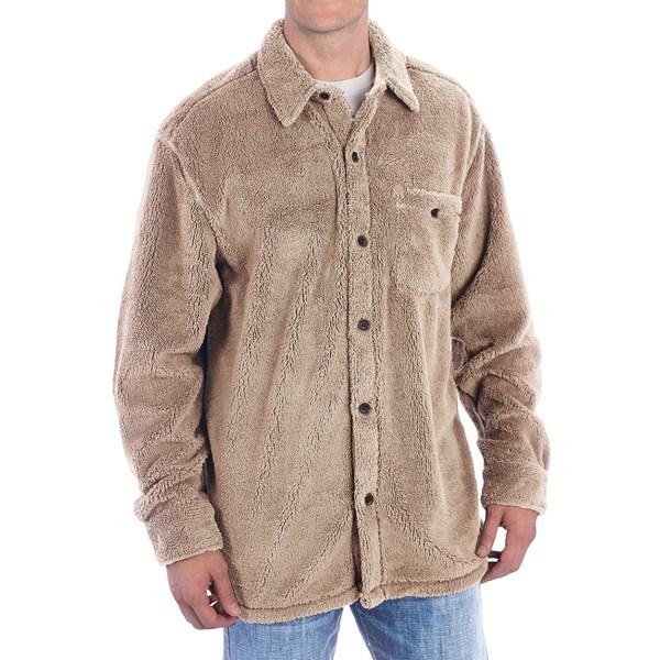 True Grit Pebble Pile Big Fleece Shirt - Button Front, Lo ...