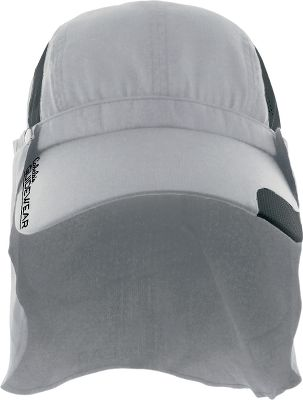 This breathable, warm-weather cap delivers on-demand protection during those clear, sunny days. The patent-pending self-contained cape secures with side button snaps and stows in the back panel when not in use. A quick-drying sweatband and mesh panels manage heat and perspiration. No UPF rating in the mesh panels.Adjustable shock cord in back for a custom fit. Keeper clip prevents hat from blowing away on windy days. Odor-resistant, moisture-wicking polyester construction. UPF rating of 50. 3.63 brim. Imported. Sizes: M/L, L/XL. Colors: Goose Grey, Light Pesto, Bean Sprout, Sandy River. Size: LARGE. Color: Beansprout. Gender: Male. Age Group: Adult. Material: Polyester. - $5.88