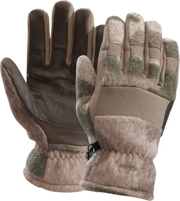 Hunting The ideal mix of warmth, wind protection and dexterity. Wooltimate blends the best attributes of wool and Berber fleece and is backed by a layer of 40-gram Thinsulate Insulation and Cabelas-exclusive, wind-blocking WindShear linings. Stretch panels on fingers and backs of hands for unrestricted comfort. Water-resistant goat-leather palms. Imported. Sizes: M-2XL. Camo pattern: Outfitter Camo . Size: XL. Color: Outfitter Camo. Gender: Male. Age Group: Adult. Type: Gloves. - $29.99