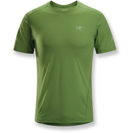 Fitness Unusually light and smooth to the touch, the Arc'teryx Motus crew shirt enhances comfort with a specialized fabric blended with polypropylene. Polyester and polypropylene fabric wicks perspiration away from your skin, allowing for quick drying and comfortable performance. Polypropylene fabric naturally resists odors, and the Motus protects skin from UV light with a UPF rating of 25. You'll run farther without chafing thanks to the flatlock seams. Smooth fabric face that slides easily under other garments makes the Motus a solid choice for a next-to-skin layer. Shirt is tailored for active users, offering a hip-length cut that works well with shorts or tights. The Arc'teryx Motus Crew shirt has a reflective highlights for enhanced low-light visibility. - $44.93