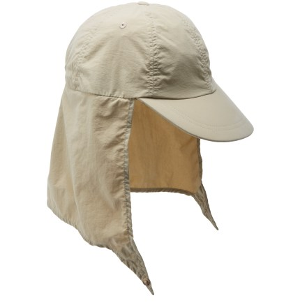 The ExOfficio BugsAway(R) Cape hat provides long-lasting, effective protection against mosquitoes, ticks, ants, flies, chiggers and midges. EPA-registered, odorless Insect Shield(R) Repellent Apparel helps keep biting and potentially disease-carrying insects away. Insect Shield is effective through 70 washes. Lightweight nylon fabric dries fast and provides UPF 30 protection against harmful solar rays. Dark color on the underside of the brim reduces glare. Cape shades your neck from the sun and folds away when you don't need it. Shockcord and toggle in back adjust the fit of the ExOfficio BugsAway Cape hat. - $35.00
