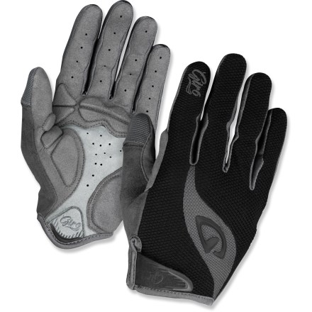 Fitness The Giro Tessa LF (long-finger) women's bike gloves offer incredible bang for your buck, with an ergonomic design, generous gel padding and high-quality construction. - $30.00