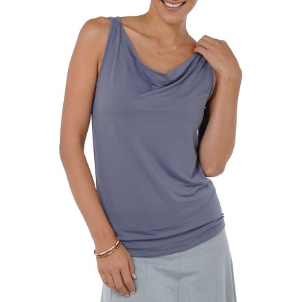Fitness The very picture of relaxation, the Horny Toad Wisper tank top blurs the line between casual and dressed for dinner. Combination of MicroModal(R) and spandex creates an elegant drape that retains its shape and feels great next to skin. Gathered straps at the shoulders are narrow but still bra-friendly. Horny Toad Wisper Tank features a double-layer front, providing a little extra coverage and more substantial feel. - $33.93