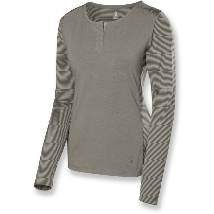 Camp and Hike The good-looking, quick-drying Isis Terra top is made to perform when you're working hard. DriRelease technology wicks moisture and dries in a snap. Shoulder seams are eliminated for added comfort while wearing a backpack. - $37.93