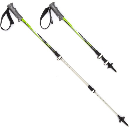 Camp and Hike The Leki Naya SpeedLock trekking poles for women feature a powerful locking system for reliable strength, performance and convenience on your backcountry treks. - $74.93