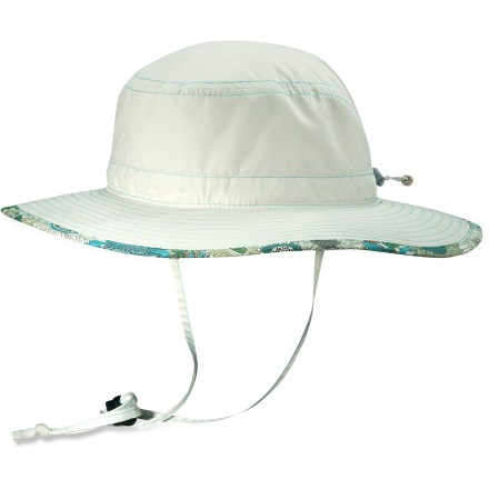 Enjoy trips to the lake on sunny summer days with the wide-brimmed Pistil Lotus hat. Lightweight and quick-drying polyester material provides UPF 50+ protection against the sun. Pistil Lotus hat floats if you drop it in the water. Shockcord and toggle in back fine-tune the fit. Adjustable chin strap keeps the hat on your head when the wind picks up. - $36.00