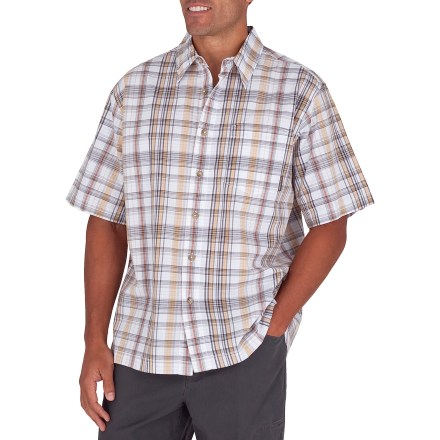 Entertainment The Royal Robbins Grogen Plaid shirt brightens your summer wardrobe, and it will be your go-to choice for hanging out. Garment-washed cotton fabric is soft and breathable. Single chest pocket. Closeout. - $22.73