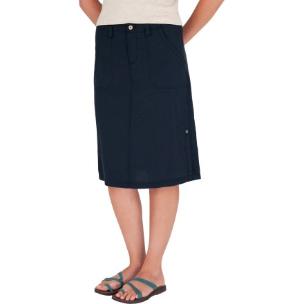 Entertainment The Cool Mesh Skirt from Royal Robbins brings sophistocated style to casual hangouts. Cotton/organic cotton blend fabric is soft, lightweight and breathable. Zippered fly with button closure for easy on. Side pocket and hand pockets for stashing small items. Closeout. - $39.73