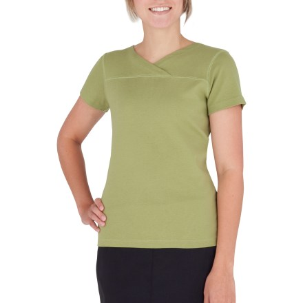 Entertainment The Royal Robbins Kick Back Crossover top features a stylish crossover neckline. Cotton fabric is naturally soft, breathable and comfortable. Fabric provides UPF 50+ sun protection, shielding skin from harmful ultraviolet rays. Hip length. Closeout. - $14.73