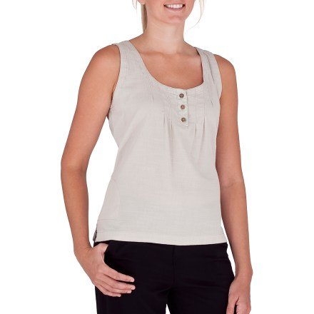 Surf The Royal Robbins Cool Mesh tank top features a fun style that's sure to please. Cotton fabric is naturally soft, breathable and comfortable. 3-button placket. Closeout. - $18.73