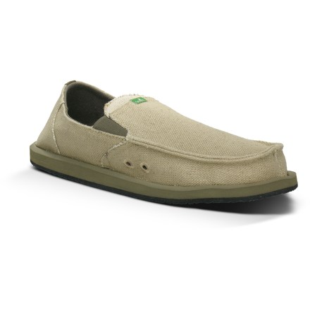Surf The Sanuk Rasta Pouch shoes bring good vibes and laid-back comfort to your daily outings. Billed as a sandal-shoe hybrid from the Sanuk Sidewalk Surfer line, Rasta Pouch shoes are hemp uppers on sandal bottoms. Hemp uppers look great no matter where you go; subtle stretch gores offer slip-on ease and comfort. Hidden stash pocket over the instep holds your ID, a key or money. Loose-fitting uppers allow feet to move and spread for natural shock absorption and stability. Recycled thermoplastic elastomer midsoles offer ample cushioning and a stable platform to walk on. Outsoles of the Sanuk Rasta Pouch shoes are made from partially recycled rubber to match durability with pillowy cushioning. Sanuk Rasta Pouch shoes are vegan friendly. - $48.93