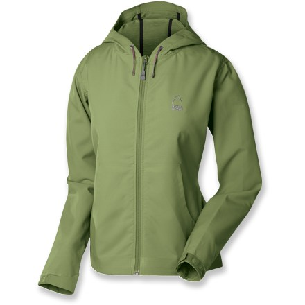 The Sierra Designs Campfire hoodie women's jacket takes an all-time favorite design and adds a technical, ultra comfortable soft-shell fabric. Breathable soft-shell polyester fabric offers wind- and water-resistant protection, and wicks moisture away from skin. Soft, 2-way stretch and a Durable Water Repellent finish round out the details. Strategic seams are fused rather than sewn for a clean, low-bulk finish. Hood drawcord, hem drawcord and rip-and-stick cuffs seal in warmth. Front open hand pockets. Closeout. - $40.73