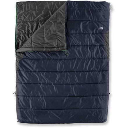 Camp and Hike With plenty of room to sleep two comfortably, this warm, synthetic-insulation sleeping bag provides lightweight performance for your 3-season camping trips. - $129.93
