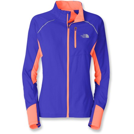 Fitness Lightweight, comfortable and highly ventilated, The North Face Better Than Naked jacket for women does its job and gets out of your way so you can focus on your run. Ripstop polyester panels on the front and back create a barrier against wind; polyester and mesh maximize breathability in remainder of jacket. Durable Water Repellent finish helps light precipitation bead up and roll off. Panels feature FlashDry(TM) fibers to dramatically improve dry time and breathability. Perforated ventilation areas are positioned to reduce clamminess and vent warm air like a chimney. Zippered security pocket stows small items and works with your media player. Reflective highlights increase your visibility in dim light and can be seen from any angle. Dropped tail extends rear coverage. The North Face Better Than Naked jacket for women weighs 4.94 oz. - $90.93