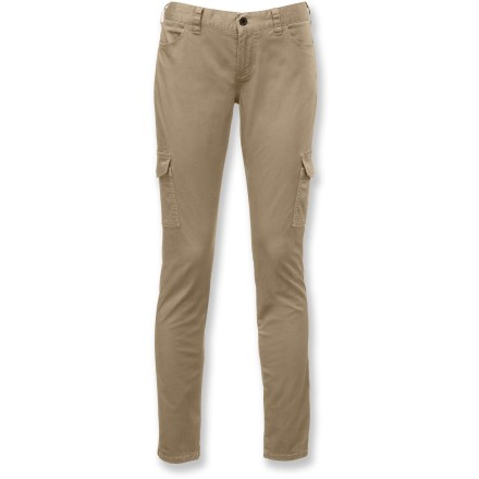 Slim and stylish, The North Face Atka Matchstick cargo pants feature multiple pockets and a modern silhouette so you're ready for impromptu adventures while looking your best. Cotton fabric with a touch of stretch is soft, comfortable and needs no special care. 2 hand pockets provide easy storage; 2 rear pockets with flaps and hidden snap closure offer additional space; 2 cargo pockets keep small items close at hand. The North Face Atka Matchstick cargo pants feature a narrow cut through hips and thigh with slim 13 in. leg opening. - $39.83