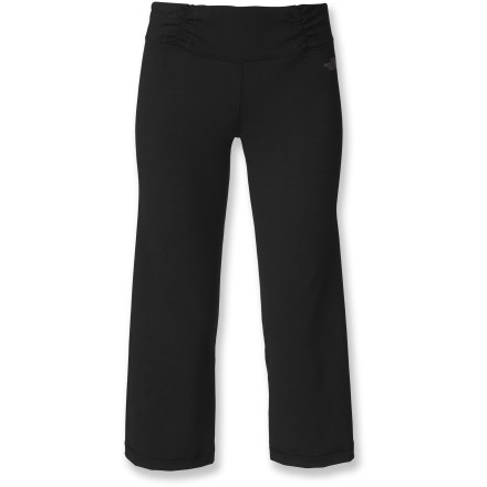 Fitness Balancing comfort and performance, The North Face Tadasana VPR capri pants might be the perfect choice for your next yoga practice. Mostly recycled fabric dries quickly, offers a slimming look and supportive comfort. Small pocket stores a key. Wide comfortable waistband and wrapped seams of The North Face Tadasana VPR capri pants offer a flattering fit. - $44.93