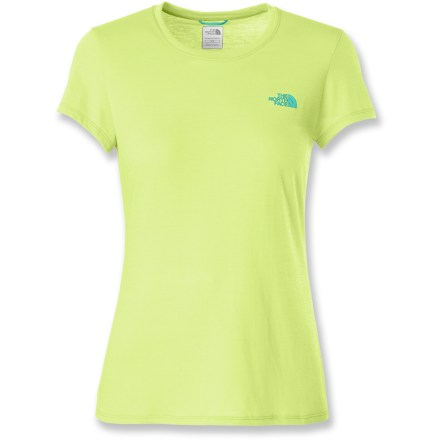Fitness A cool workout awaits you in The North Face Reaxion T-shirt. Quick-drying VaporWick(R) fabric moves sweat away from the skin so it can evaporate quickly, increasing your comfort. The North Face Reaxion T-shirt offers a relaxed fit. - $16.93