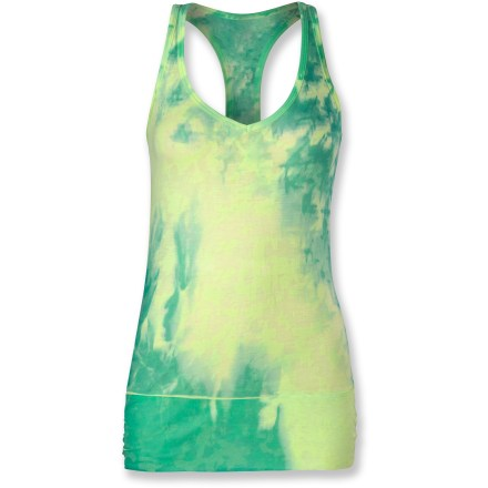 Fitness The North Face Be Calm tank top cultivates the perfect state of mind for outdoor yoga, summer morning strolls and evening workouts. Fabric blend brings a soft feel to light exercise and lounging. Textured burnout knit gives The North Face Be Calm tank top plenty of style. Regular fit, ruching at sides. - $27.93