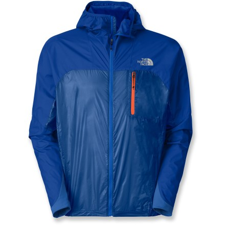The North Face Verto Pro jacket provides protection against cold and wet with tough materials that remain extremely lightweight, flexible and easy to wear day in and day out. Pertex(R) Quantum(R) GL ripstop nylon on the lower body of the jacket provides extremely soft, packable and windproof protection that also repels water. Gore(R) Windstopper(R) ripstop nylon on the arms, shoulders and hood completely blocks wind, sheds water and resists abrasion. Elastic at hem, cuffs and hood provides a snug fit that keeps wind and water at bay. The North Face Verto Pro jacket features 1 zippered chest pocket that stores small valuables and doubles as a compressible stow pouch for the jacket. - $98.83