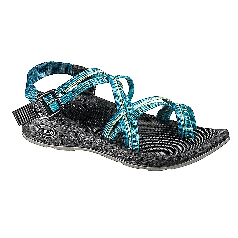 Surf Free Shipping. Chaco Women's ZX/2 Yampa Sandal FEATURES of the Chaco Women's ZX/2 Yampa Sandal Upper: Polyester jacquard webbing Upper double strap, with toe loop, wraps around the foot and through the midsole for the ultimate customized fit Adjustable and durable high tensile webbing heel risers Custom injection molded ladder lock for a secure hold Midsole: Durable, women's specific LUVSEAT polyurethane footbed with slip resistant classic diamond pattern design Outsole: Non-marking Yampa Outsole with Vibram TC-1 rubber and 3mm lugs Light weight Outsole for versatility - $104.95