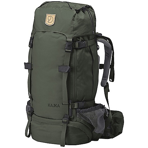 Camp and Hike Free Shipping. Fjallraven Kajka 100 Pack DECENT FEATURES of the Fjallraven Kajka 100 Pack Fine tuned, slightly bigger top lid Versatile with two pockets, one with key holder inside Doubles as a chest or hip bag The entire front can be opened for a total overview of the contents Allows the attachment of equipment to the front of the backpack at the same time as the front straps are prevented from falling to the ground when you open the pack Hidden compression poles run along the front of the backpack and help compress the pack evenly and efficiently Upgraded with an easy removal function Attachment for hiking poles or ice axe compartment with internal mesh pocket makes it easy to separate wet or dirty equipment from the rest of your pack Oversized side pockets provide extra storage space, now with even easier access Compression poles allow the straps to sit far apart from one another without losing their fun ction This makes the side pockets easy to access, even when the compression straps are drawn Give easy access to a water bottle even when wearing the backpack Now larger to accommodate bigger items New construction of cord channel facilitates cord change For easy attachment of your ground sheet or an extra jacket New, reinforced opening for a water tube Owner information covered by a flap Lift the Adjust flap and pull the strap to adjust the backpack to the length of your back The width of the shoulders can be fixed in three positions The combination of these adjustments customizes the pack specifically to your back Kajka's system for adjusting the backpack to the back length and shoulder width of the wearer is extremely user-friendly Rain Cover: in highly visible-UN Blue Redesigned to cover a groundsheet or other equipment carried on the exterior of the pack Innovative wooden frame-Elongated frame and adapted adjustments of the top lid give a better fit between the top lid and the pack, even when it is half empty Ergonomical, supportive hip belt-With pockets for keys, telephone or chocolate New fabrics at pockets: one in mesh, one in primary fabric The SPECS Frame: Birch wood Webbing: 100% polyamide Dimension: (H x W x D): 90 x 40 x 31 cm Volume: 100 liter Rain Cover: Included System: Perfect Fit Zipper: YKK Weight: 3250 g Fabric: Vinylon F: 100% polyvinyl alcohol, 600D polyester - $429.95