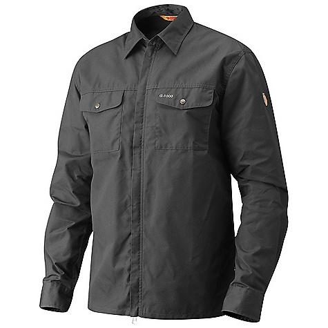 Free Shipping. Fjallraven Men's G-1000 Shirt DECENT FEATURES of the Fjallraven Men's G-1000 Shirt G-1000 Original shirt that you can wear as a thin jacket Comfort fit for comfort use Full zip at front 2 chest pockets with press buttons 1 safety pocket at side Leather details The SPECS Fit/Waist: Comfort Fit G-1000 Original: 65% polyester, 35% cotton - $124.95