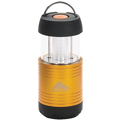 Kelty Flashback Mini Lantern DECENT FEATURES of the Kelty Flashback Mini Lantern 2 lights in one: powerful spotlight and lantern Telescoping design allows the spot light to be focused Anodized aluminum body with rubberized ABS plastic ends Weather-resistant 5-step switch : High / Med / Low / Strobe / off Locking digital switch, allows lantern to be locked in in.offin. mode Batteries: 4 AAA, not included 1 Cree LED Internal light reflector Weight measured without batteries The SPECS Total Weight: 7 oz / 203 g Dimension: 5.25 x 2.25 x 2.25in. / 13.5 x 5.5 x 5.5 cm Minimum Lumen Output: 20 Burn Time (High): 13 hrs Burn Time (Low): 38 hrs The SPECS for Flash Light Maximum Lumen Output: 70 Usable Light: 60' Readable Light: 25' The SPECS for Lantern Maximum Lumen Output: 50 Usable Light: 15' / 4.5 m Diameter Readable Light: 5' / 1.5 m Diameter - $39.95