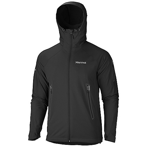 Free Shipping. Marmot Men's Vapor Trail Hoody DECENT FEATURES of the Marmot Men's Vapor Trail Hoody Marmot M2 Softshell Water Repellent and Breathable Attached Adjustable Hood Windproof Body and Sleeve Fabric with Wicking Backer Fabric Breathable Side Panels and Back Pack Pockets Zip Sleeve Pocket Asymmetric Cuffs Interior Zipper Pocket with Headphone Port Elastic Draw Cord Hem Angel-Wing Movement The SPECS Weight: 13.8 oz / 391.2 g Material: WP Softshell 79% Polyester, 21% PU Stretch with DriClime Technology 3.4 oz/yd 86% Polyester, 14% Elastane 4.0 oz/yd Center Back Length: 27.5in. Fit: Athletic - $149.95