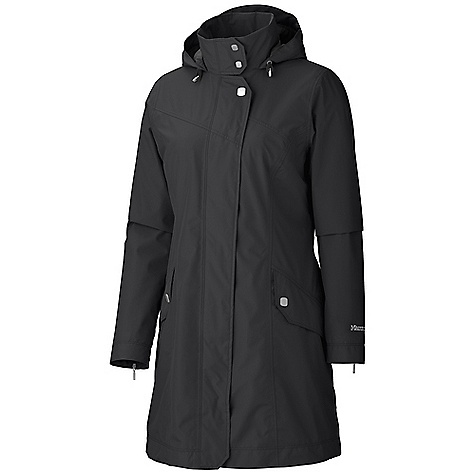 Free Shipping. Marmot Women's Destination Jacket DECENT FEATURES of the Marmot Women's Destination Jacket Marmot MemBrain Waterproof/Breathable Fabric 100% Seam Taped Attached Adjustable Hood that Rolls Into Collar Flapped Hand Pockets Zippered Cuffs Interior Zippered Pocket Interior Drop Pocket The SPECS Wight 1 lb 4.5 oz / 581.2 g Material: MemBrain 2L 100% Nylon 3.1 oz/yd Center Back Length: 34in. Fit: Regular - $224.95