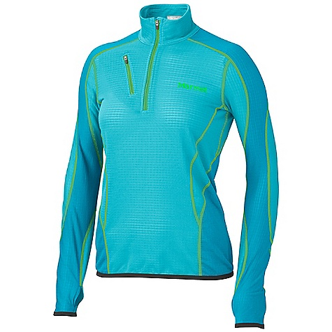 On Sale. Free Shipping. Marmot Women's Thermo 1/2 Zip FEATURES of the Marmot Women's Thermo 1/2 Zip Polartec high efficiency Fleece Flat lock Construction Zippered Chest Pocket Elastic Bound Cuffs with Integrated Thumb holes - $59.99