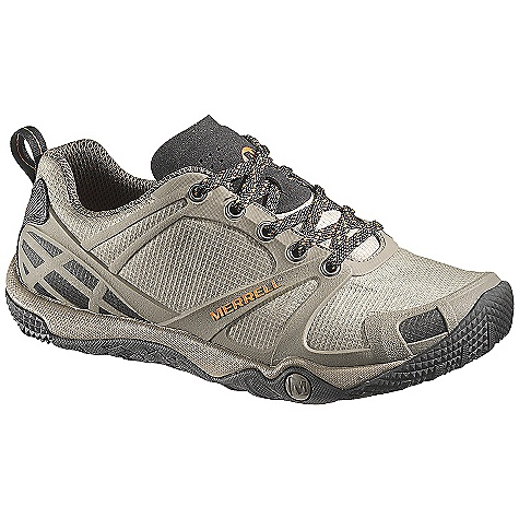 Camp and Hike Free Shipping. Merrell Men's Proterra Sport Shoe DECENT FEATURES of the Merrell Men's Proterra Sport Shoe Strobel construction Merrell Stratafuse Fabric upper provides a glove like fit for lightweight durability and natural movement Bellows tongue keeps debris out Low Cut Upper Protective TPU rand and toe cap Minimal design PU midsole increases ground contact and enhances stability Breathable mesh upper treated with Aegis EVA removable footbed treated with Aegis The SPECS Weight: 1 lb 11 oz 4mm Drop / 10mm Cush / 21mm Stack Height Molded TPU arch shank 2.5mm lug depth Merrell Proterra Sole/Sticky Rubber - $99.95