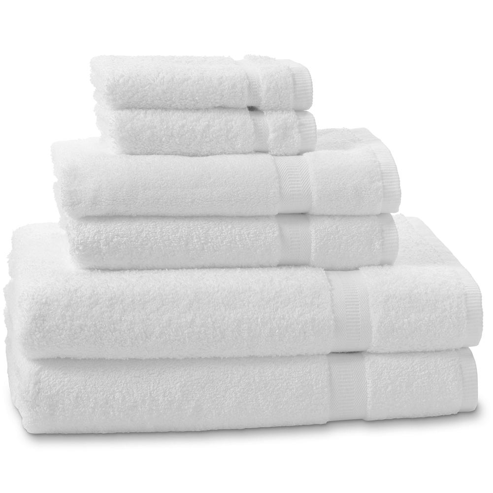 Entertainment Eddie Bauer Six Piece Supima Cotton Towel Set - The design and color options for this towel set are exclusive to Eddie Bauer. Generously sized, this set is expertly woven of high-quality Supima cotton and hemmed on all sides. Finished with a minimal amount of softeners to ensure better absorption. Set includes 2 hand towels, 2 wash cloths and 2 bath towels. Imported. - $39.99