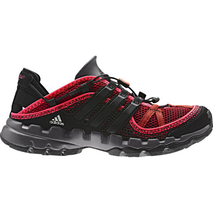 Fitness The Adidas Outdoor Hydroterra Shandal Water Shoe features a quick-draining design to facilitate quicker dry times and improve comfort both in and out of the water. The pull-and-go speed lacing system gets you on your way quickly and is easily micro-adjustable for a great fit. - $75.96
