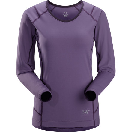 Fitness Run comfortably in cool conditions when you wear the Arc'teryx Women's Ensa Long-Sleeve Shirt. This technical, athletic-fit top features anatomical shaping, no-lift underarm gussets, and temperature-regulating properties that keep you focused and comfortable on the trail. - $88.95