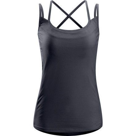 Climbing Ditch the dumpy tee look and go with the Arc'teryx Women's Senna Tank Top when you hike or climb. Its trim fit and full-coverage length enable the Senna to stay put when you find yourself hanging halfway upside-down trying to complete a difficult bouldering problem. And its wicking properties and breathable fabric keep you comfortable when you work up a sweat in the midsummer heat. - $69.95