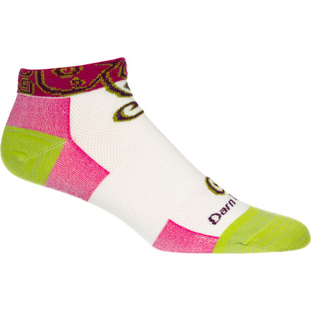 Fitness Whether you're pedaling to work or suiting up for an evening trail run, pull on the Darn Tough Women's Merino Wool Spiral No Show Ultra Light Running Sock. The merino wool blend gives your feet the comfort they deserve, and the high-density stitch count provides the durability you'd expect from Darn Tough. - $13.95