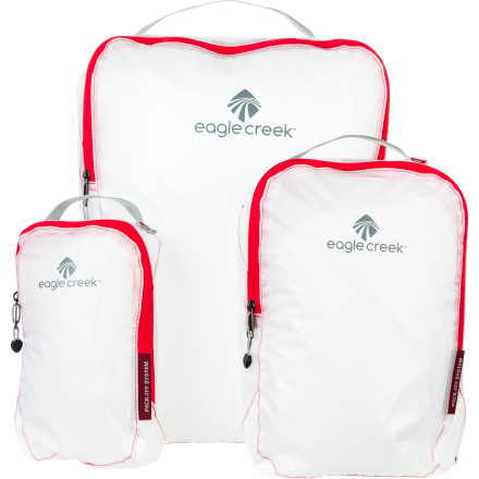 Entertainment Use the Eagle Creek Pack-It Specter Cube Set to keep your clothes organized inside your luggage or backpack. Small cubes are perfect for undergarments or socks, while larger cubes easily hold dress pants or T-shirts. Separate clean clothes from dirty clothes and keep everything easy to find. - $34.95